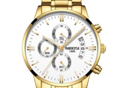 Gouden horloge uitgelicht