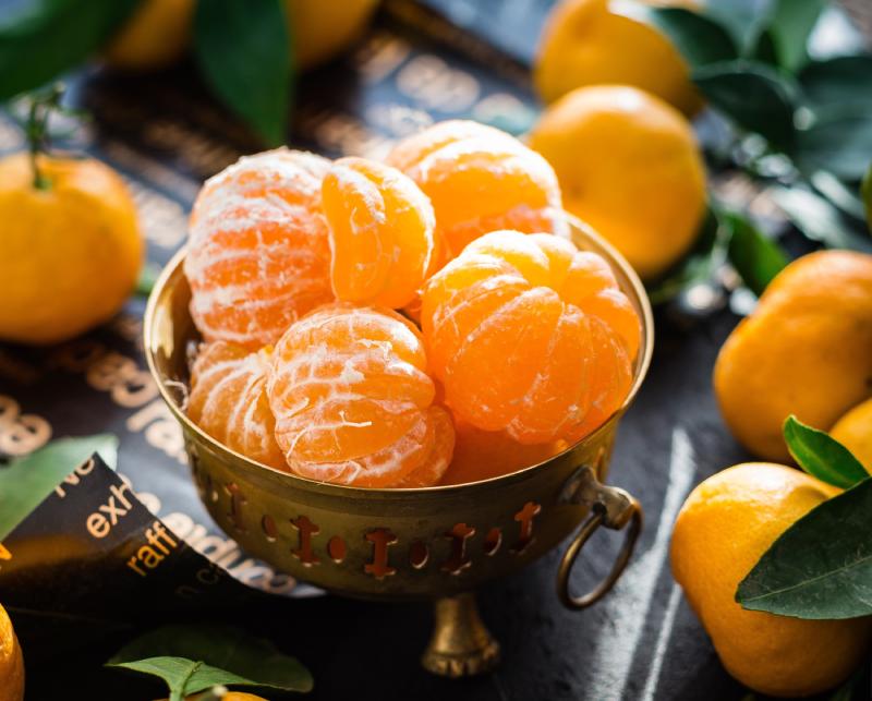 Oranje voedsel
